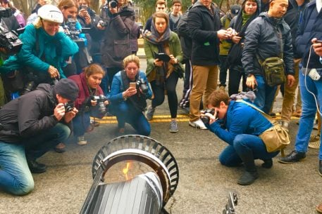 Grasping for Metaphor, Reporters Flock to Burning DC Garbage Can