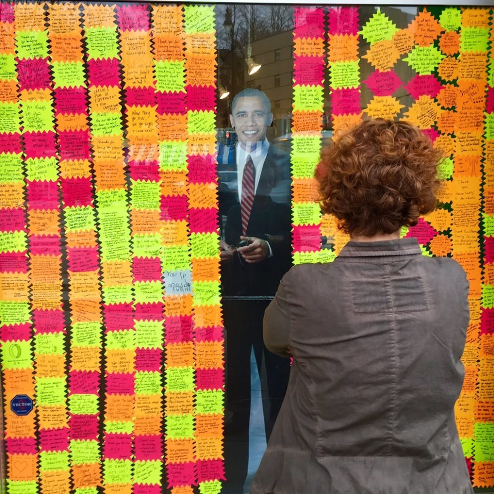 DC Store Turns Front Window Into Touching Tribute to Obama