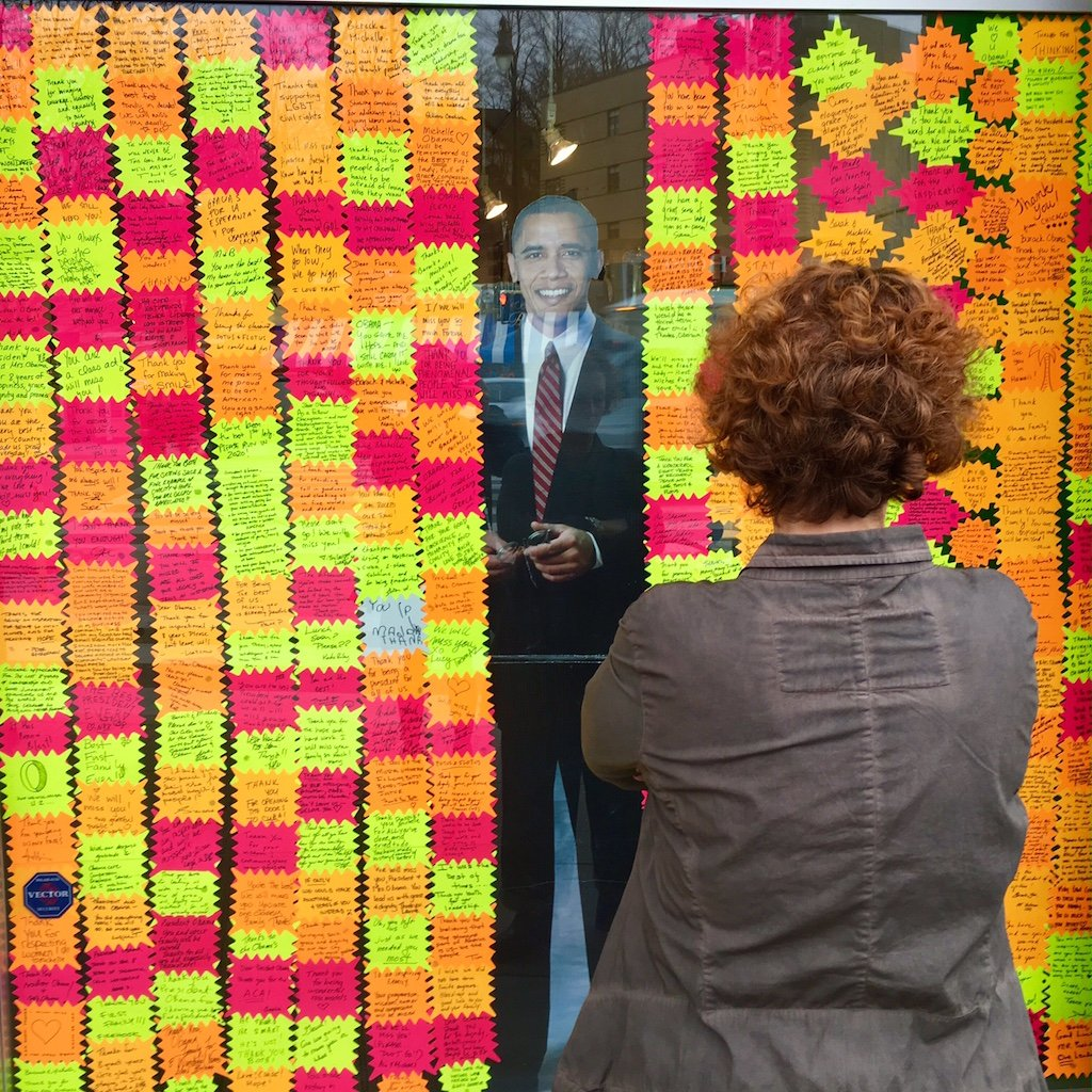 DC store window is a tribute to Obama
