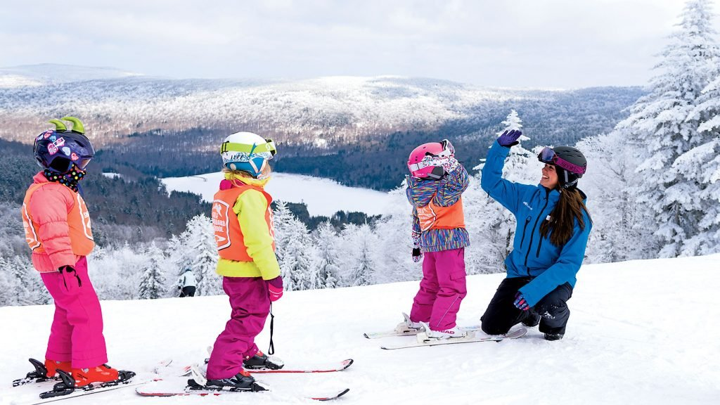 Kids can learn to ski or can hit the indoor playground. Photograph Courtesy of Snowshoe Mountain Resort