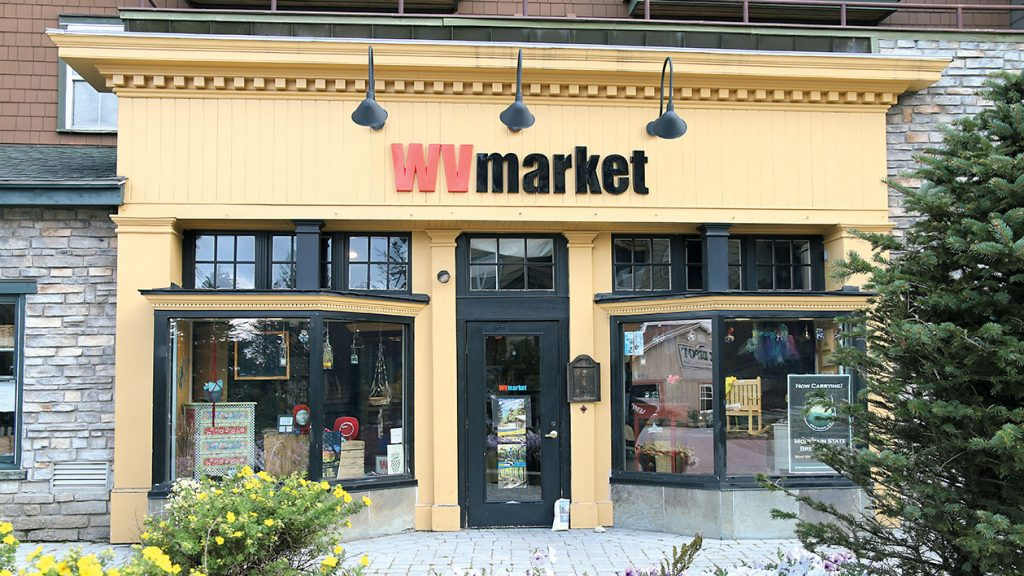 WV Market carries local jewelry, beer, and crafts. Photograph Courtesy of Snowshoe Mountain Resort