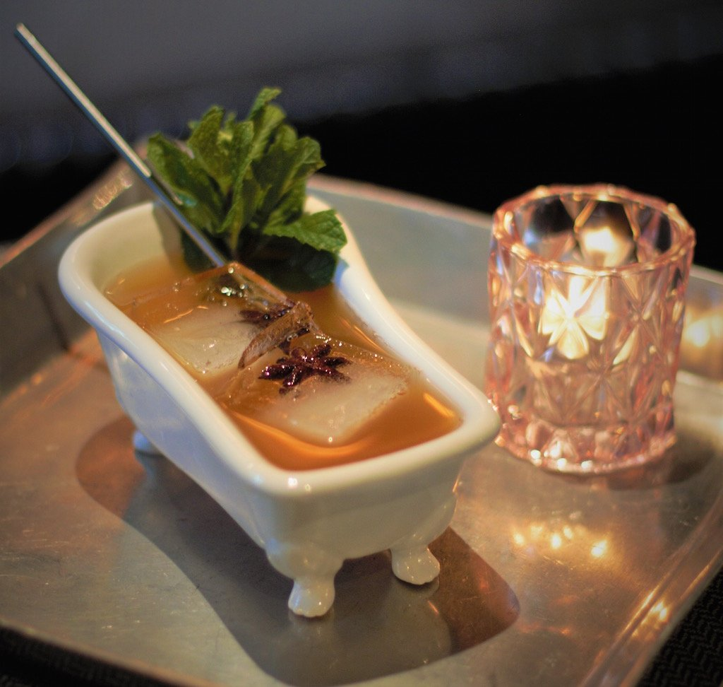 Bathtub Gin Cocktail Recipe This Gin Cocktail Is Served In A Miniature Bathtub