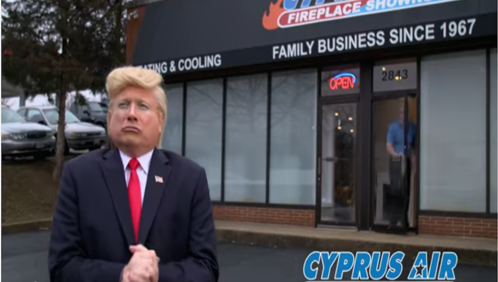 Meet the Trump Impersonator Who Was in a Local Heating Company's Super Bowl Ad