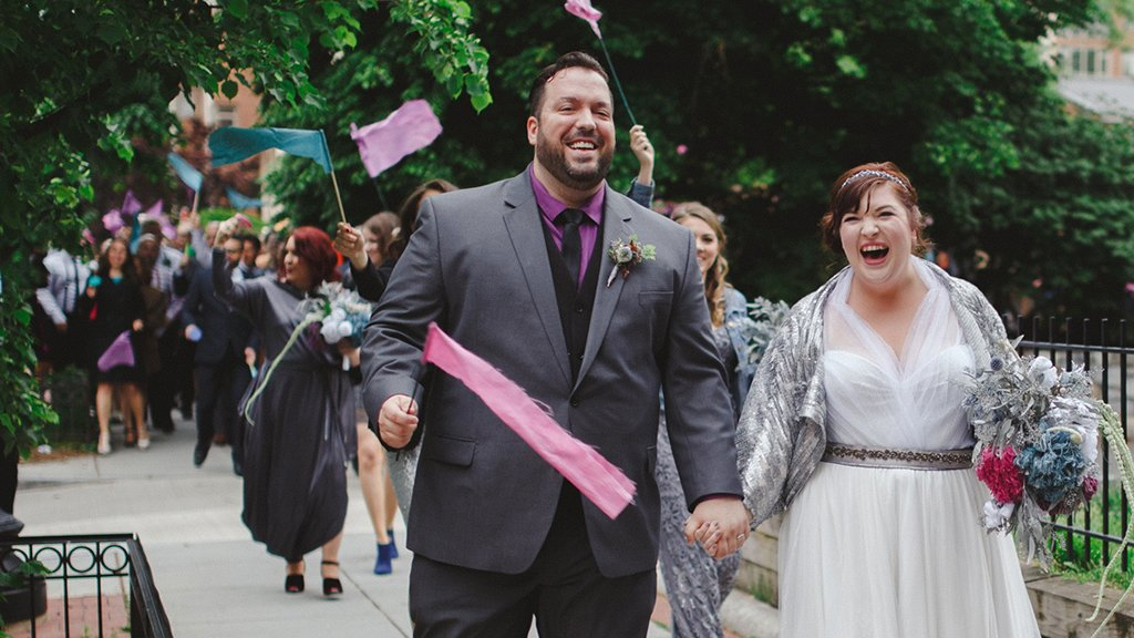 After the Original Venue Fell Through, This DC Couple Lead Guests from Ceremony to Reception With a DIY Parade