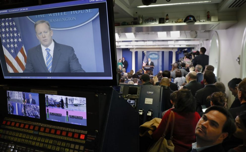 """""""Like Clinton-Lewinsky Without the Sex"""": The White House Press Corps Adjusts to the Trump Administration's Frantic Pace"""