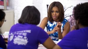 Michelle Obama Surprised a DC High School for International Women's Day