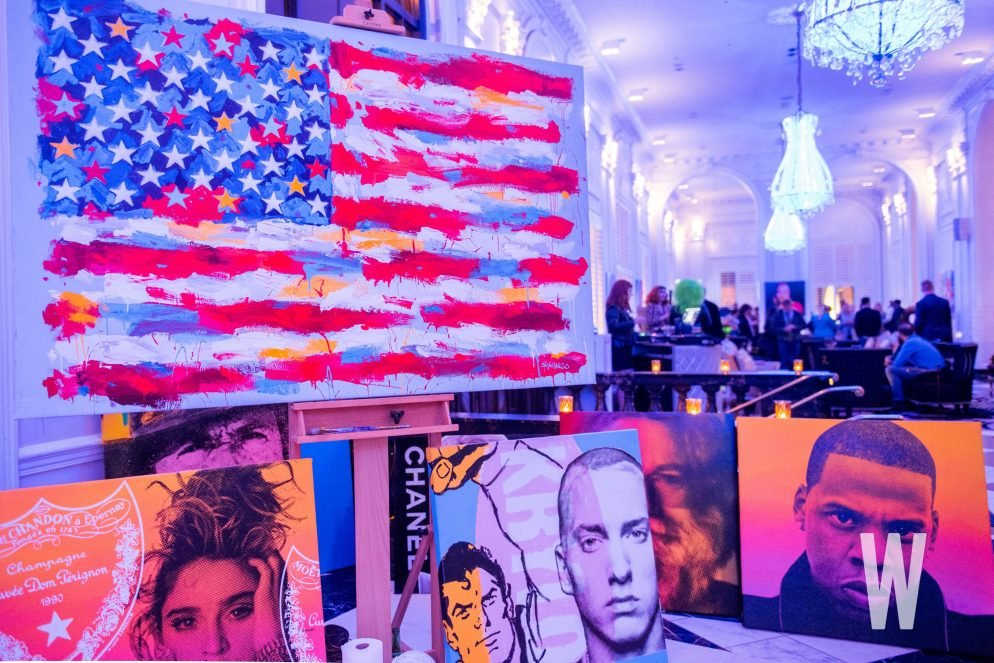 No Sex Or Drugs, But Plenty Of Rock 'N' Roll At W Hotel Lobby's New Art Exhibit