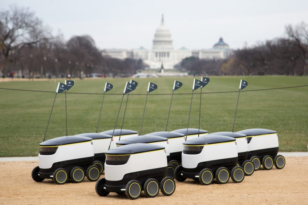 Food Delivery Robots Officially Roll Out In DC Today