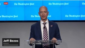 Here's Jeff Bezos Playing Around in a Huge Robotic Suit