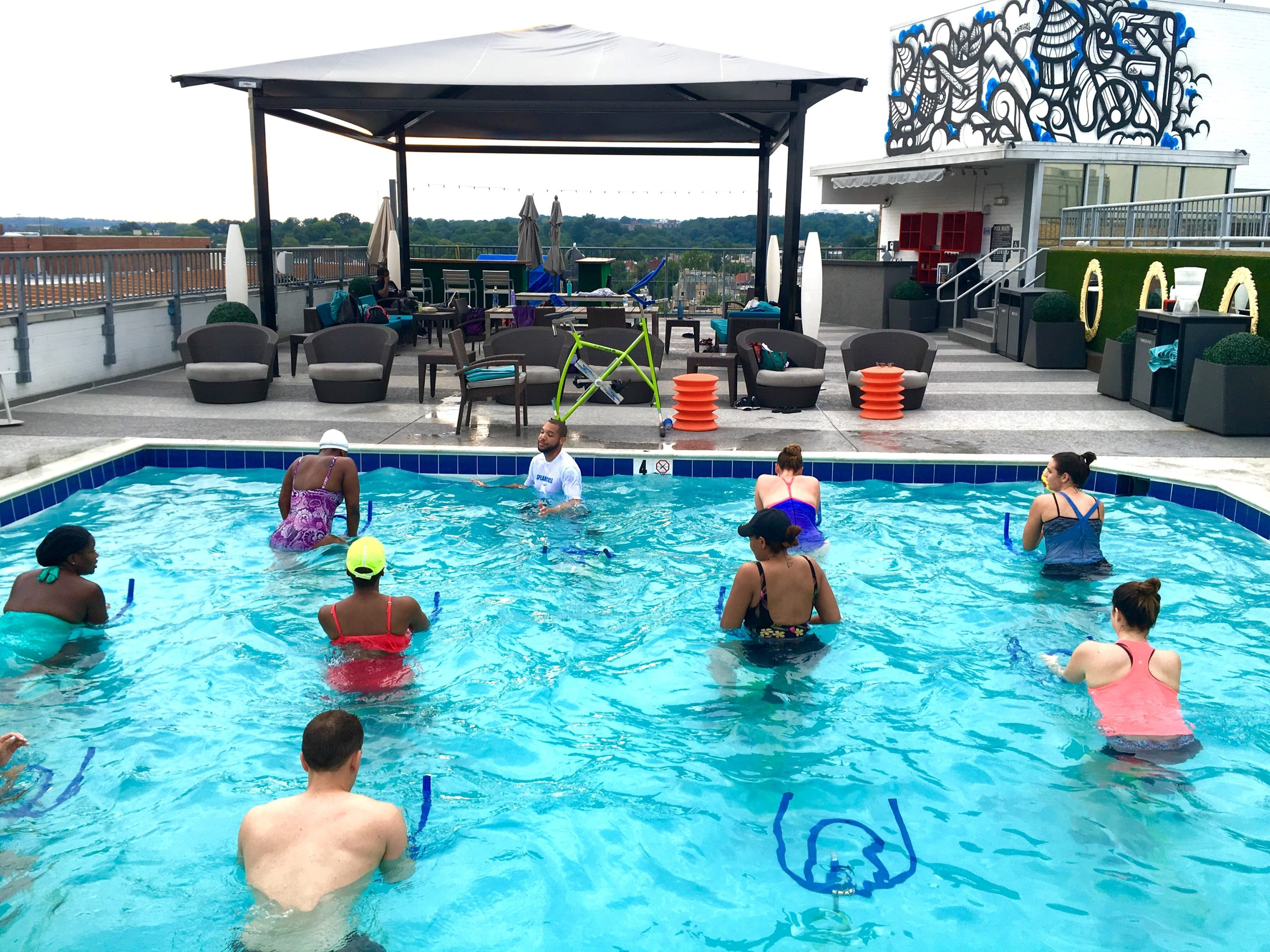 Just In Time For Summer An Underwater Cycling Class In A
