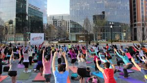 Free Outdoor Yoga at CityCenterDC is BACK