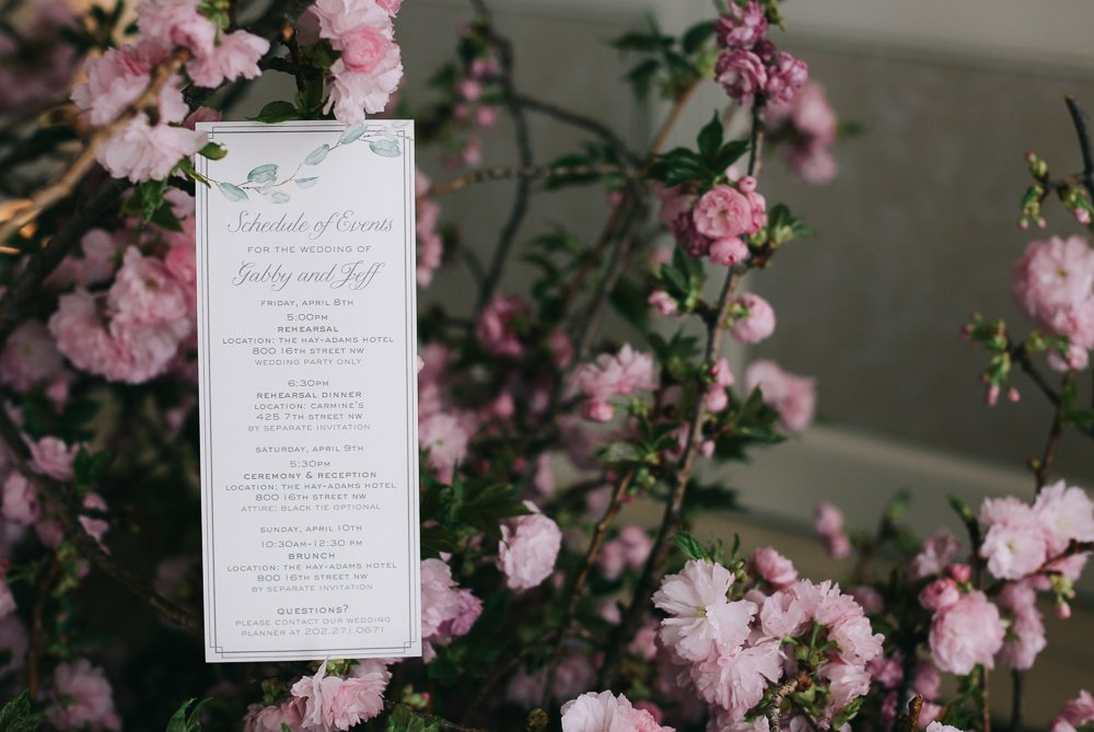Cherry Blossoms Add The Perfect Pop Of Pink To This Pastel Wedding
