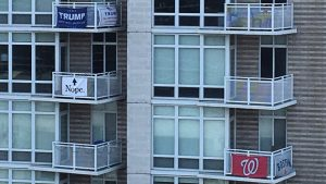 DC Building Bans Balcony Banners After Residents Use Them to Argue About Politics