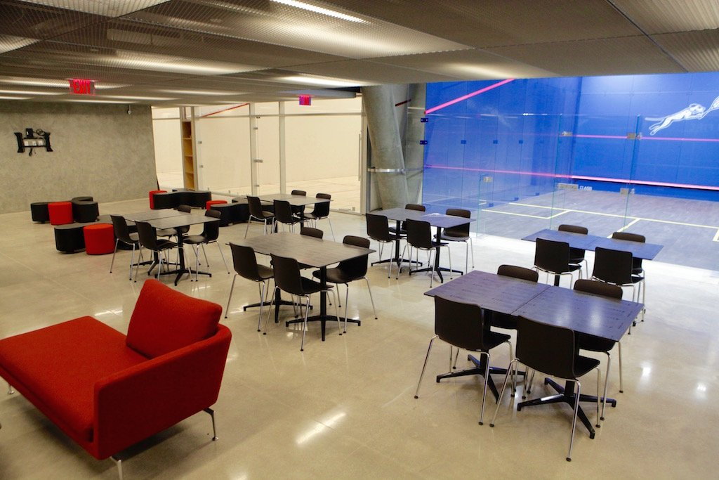 Take a first look inside dc s luxe new squash gym