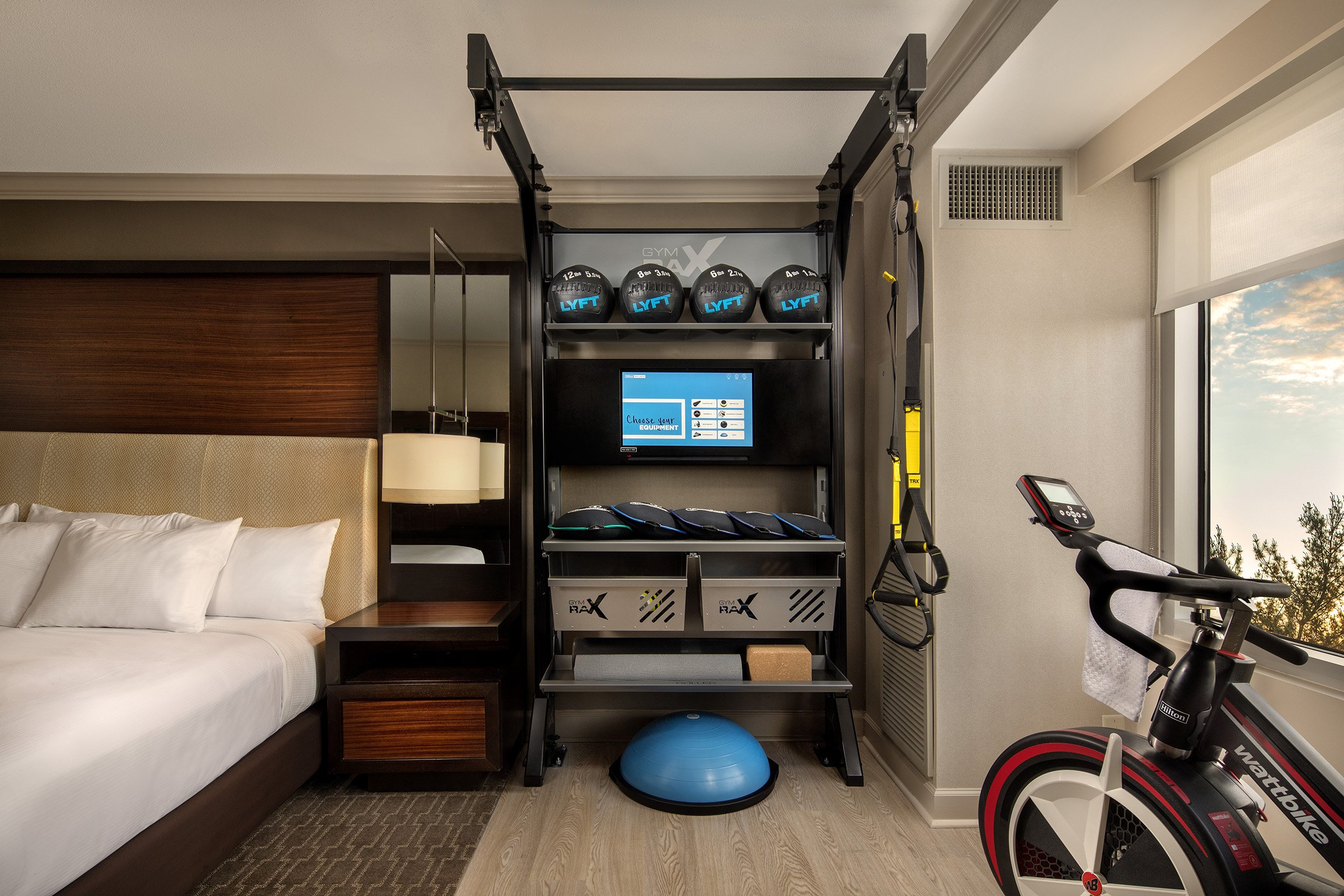 In Hilton S New Fitness Friendly Rooms You Can Literally