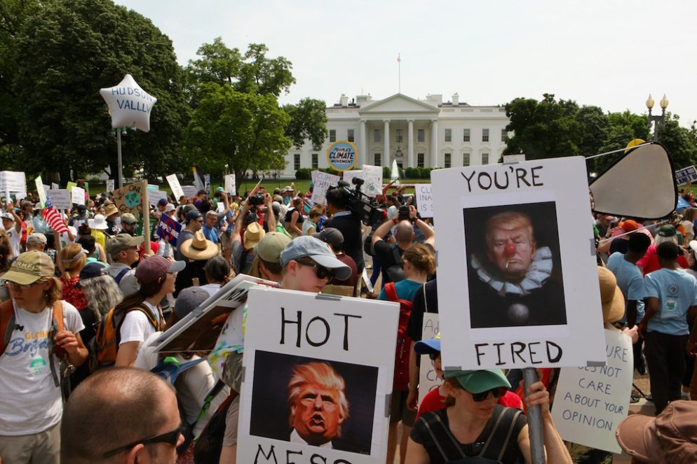 Photos: Signs and Protesters at Climate March