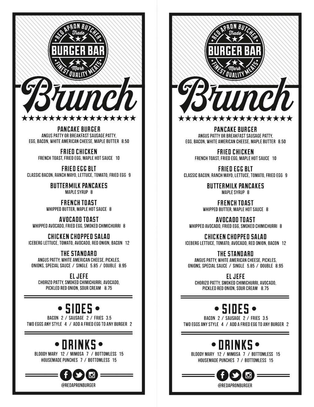 White apron sandwiches dc menu - Red Apron Burger Bar 1323 Connecticut Ave Nw