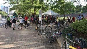 Some Scenes From Crystal City's Bike to Work Day