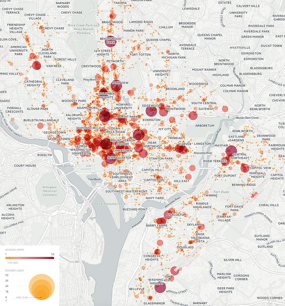 Adams Morgan Dc Map.These Are The Most Dangerous Intersections For Dc Pedestrians