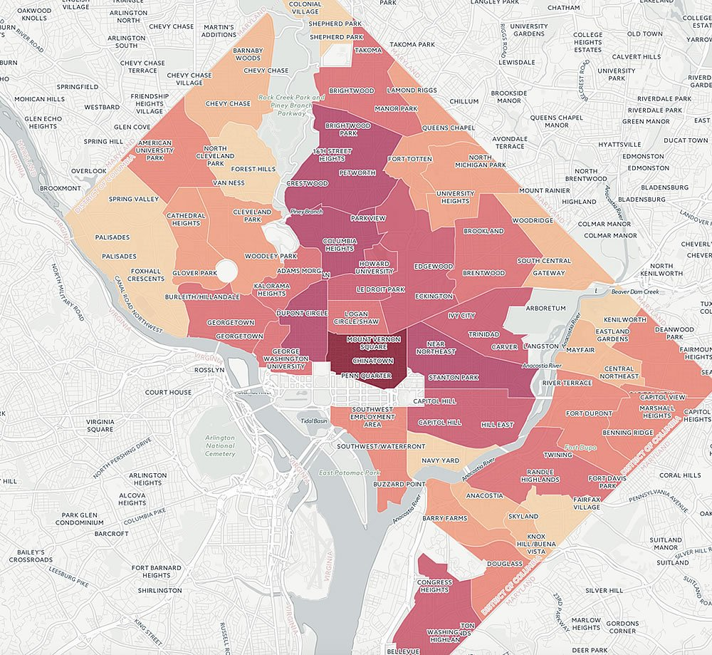These Are the Most Dangerous Intersections for DC Pedestrians ... on