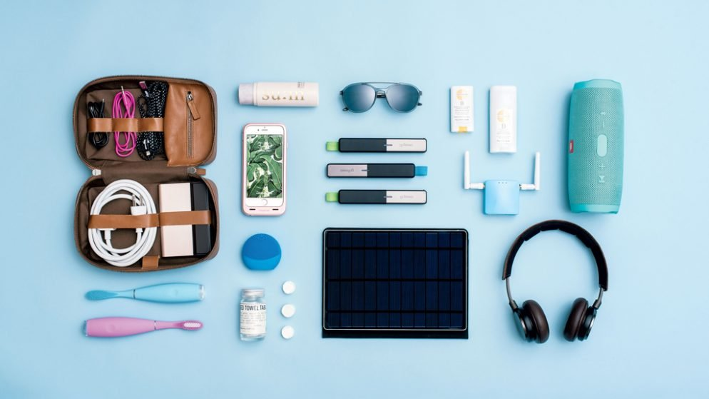 accessories and cosmetics for travel and vacation