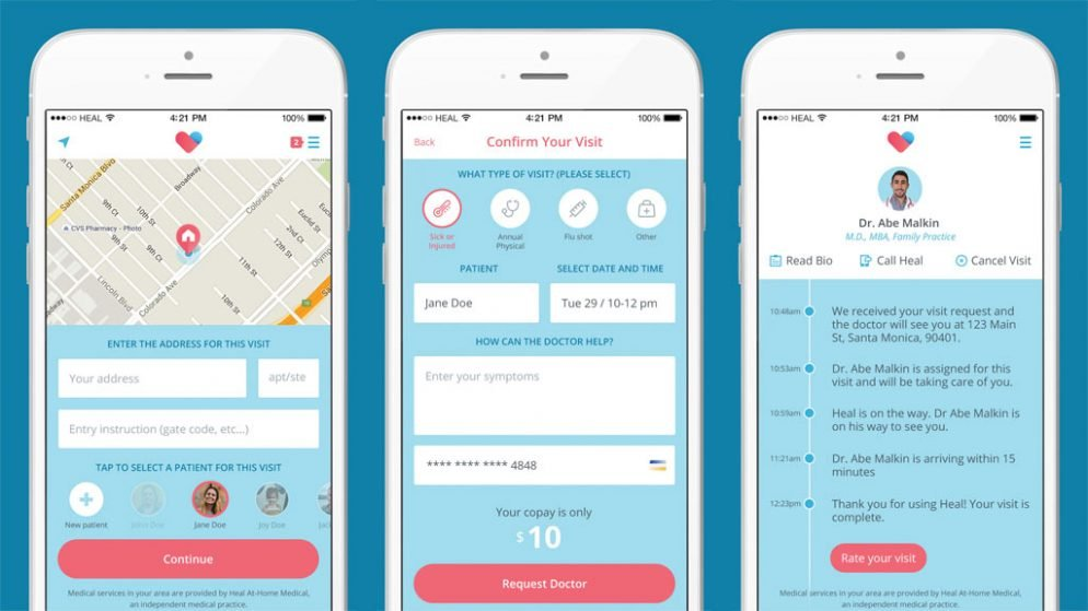 House App feeling sick? this app will send a doctor to your house for $99