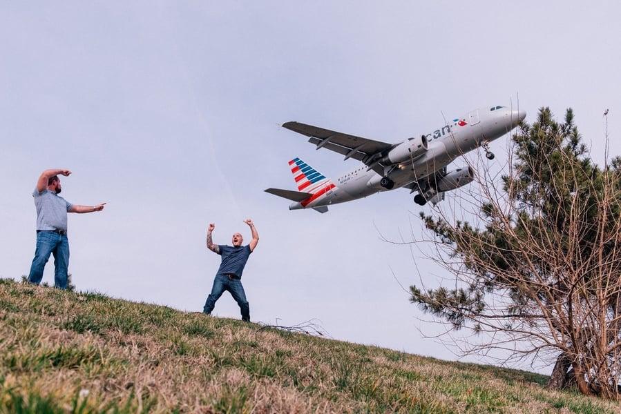 navy corpsman pilot fiance Clint Day Justin Jones Chris Ferenzi Goofy Monument Engagement Photoshoot
