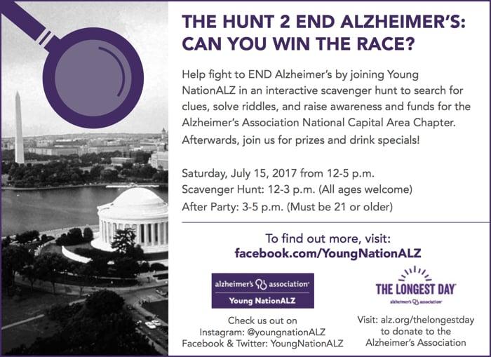 Register for the 2017 Hunt 2 End Alzheimer's