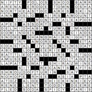 June 2017 Crossword Answer Key