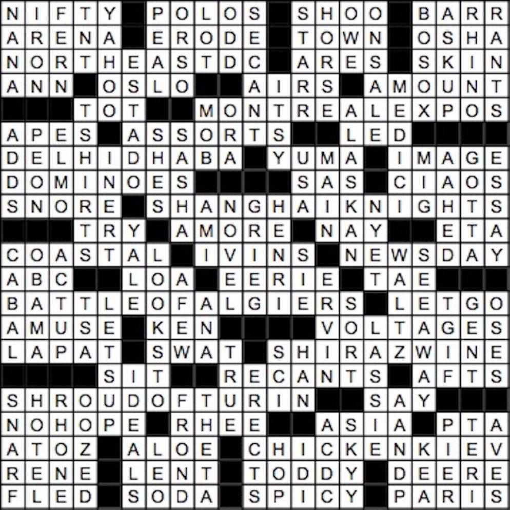 June 2017 Crossword Answer Key | Washingtonian