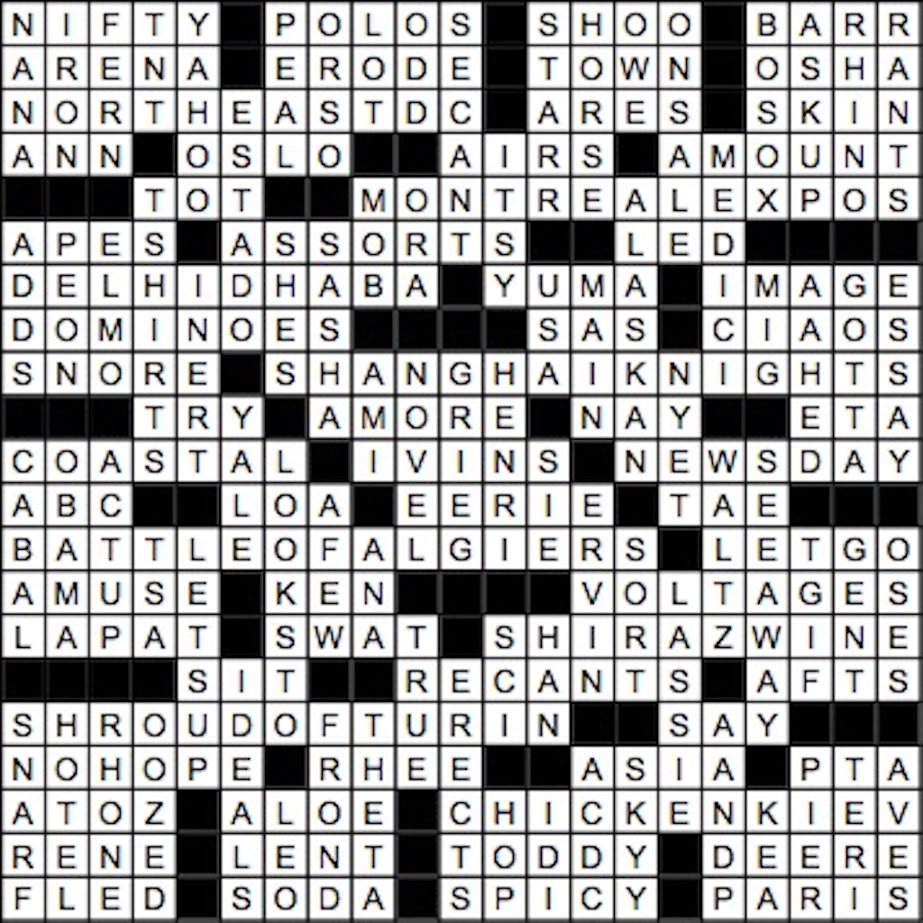 June 2017 Crossword Answer Key Washingtonian Dc