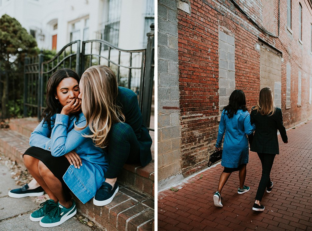 apollo dc mackenzie huffman nicole wyche stylish engagement shoot gay engagement