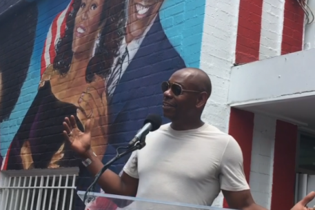 See Dave Chappelle Speak at the Ben's Chili Bowl Mural Unveiling