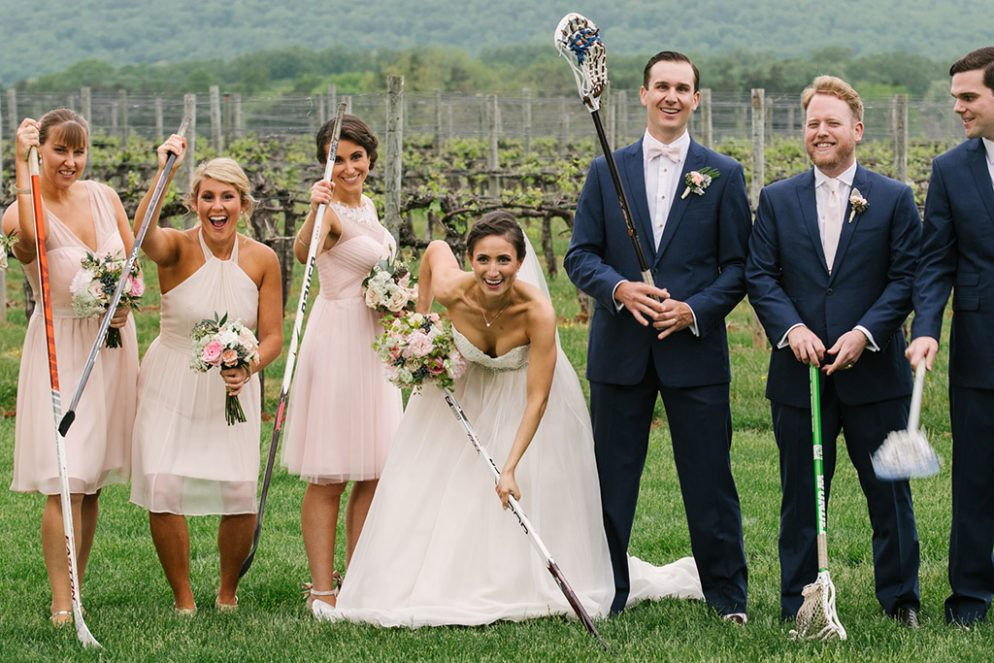 When This Groom Saw His Ice-Hockey Star Bride's Photo in the School Paper, He Knew It Was Love