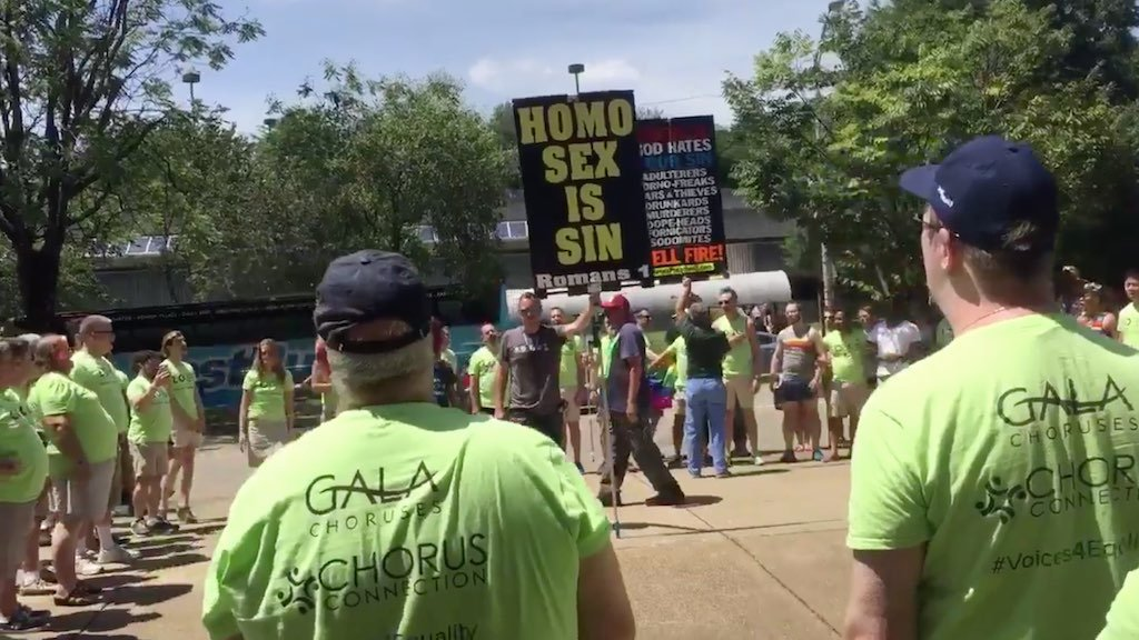 Gay Mens Chorus DC protesters