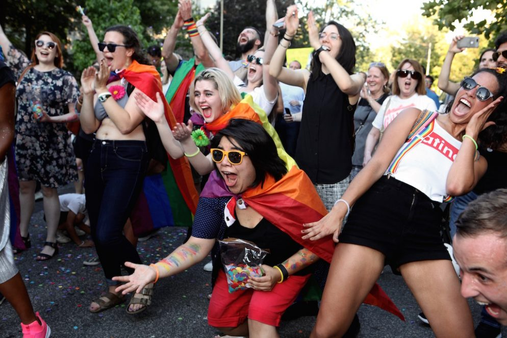 PHOTOS: Another Dance Party Protest, This Time At Mitch McConnell's House
