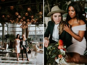 Prepare to Be Filled With Love (And Envy) Over This DC Couple's Insanely Stylish Engagement Shoot at The Apollo