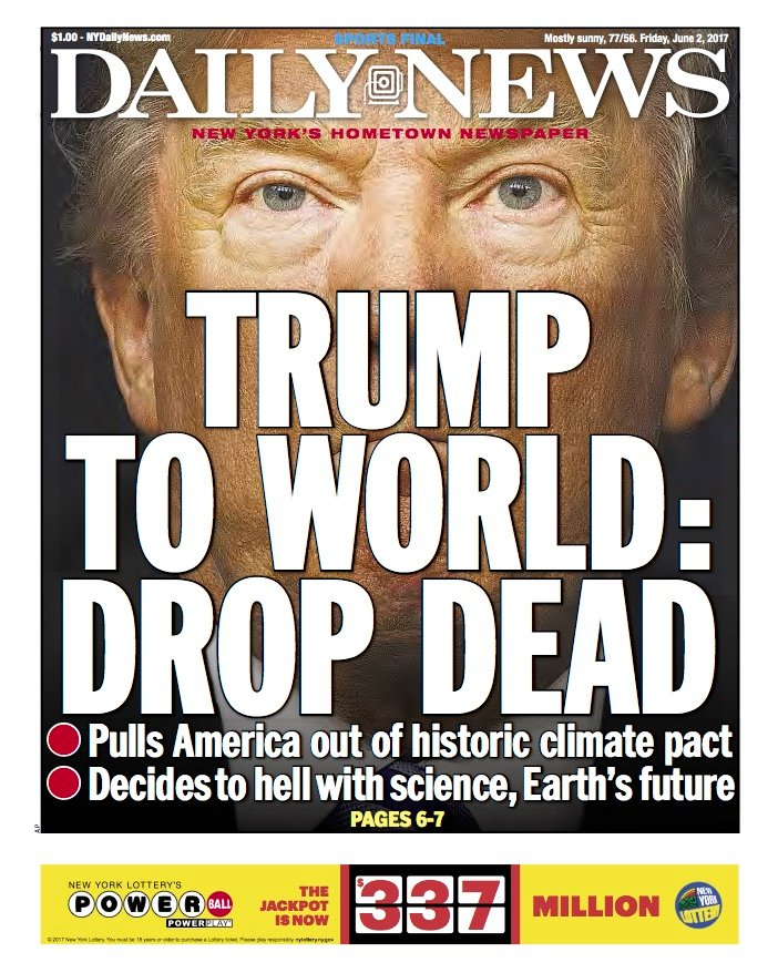 "Drop Dead"": How Trump Inspired the New York Daily News to Revive ..."