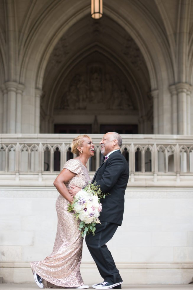 Kennedy Center National Cathedral Ashleigh Bing Anniversary Photoshoot Bride and Groom Portrait Washington, DC