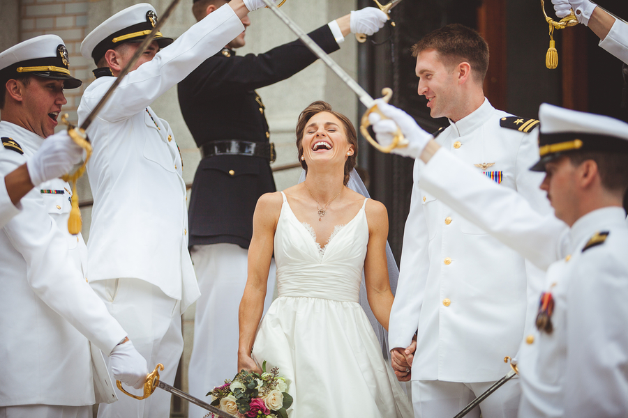 The Nautical Portraits at this Navy Aviator's Annapolis Wedding Yes that's a crew boathouse. And the Navy-Marine Corps Memorial Stadium football field.