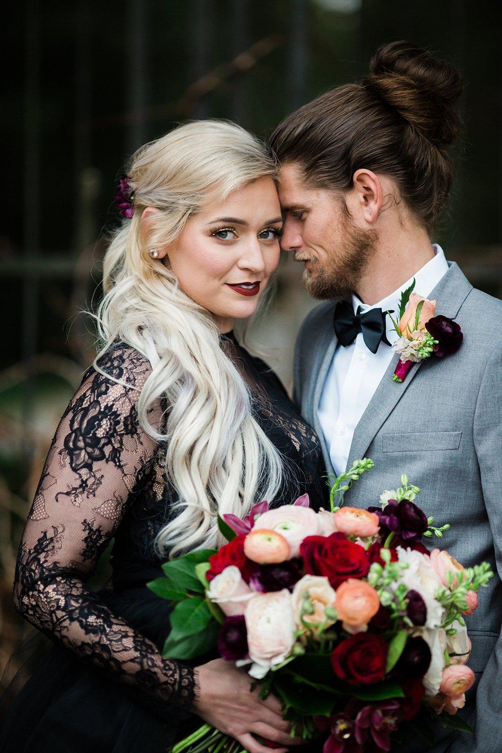 gothic wedding black wedding dress