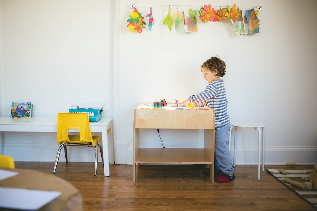 At Little Loft, kids can learn a variety of crafts. Photograph by Red Turtle Photography.