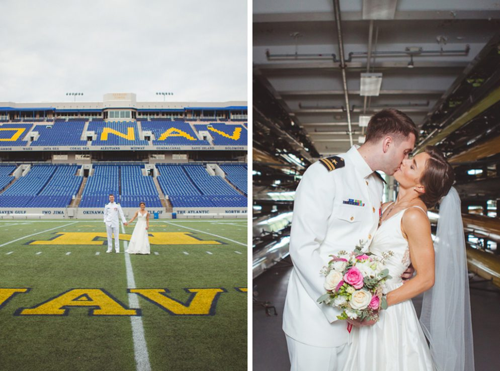 The Nautical Portraits at this Navy Aviator's Annapolis Wedding Are Too Perfect