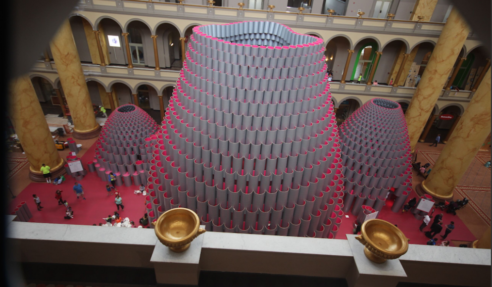 The National Building Museum's Hot New Installation Wasn't Finished for Opening Day. Here's Why.