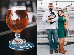 A Farmers Market, Cold Craft Beer and a Cuddly Cat Cameo—This Couple's Engagement Shoot Is the Perfect Little Sunday