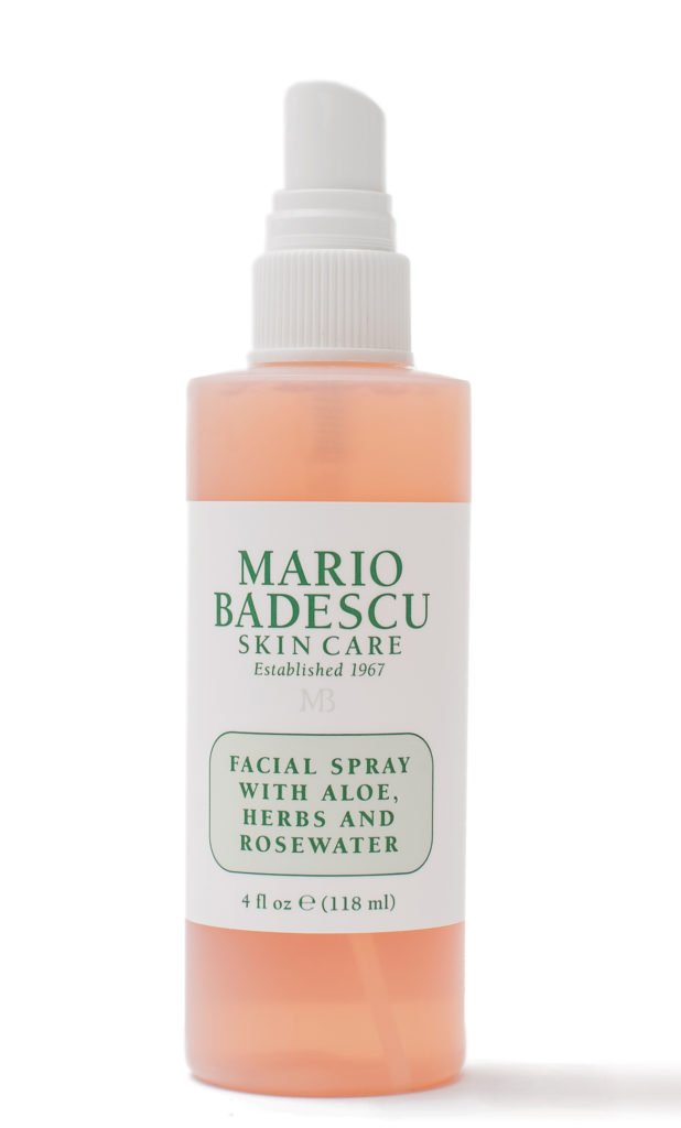 sweat-proof beauty products mario badescu skin care fashion spray with aloe, herbs and rosewater