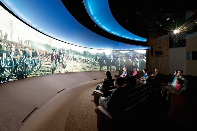4-D film experience. Photograph Courtesy of Virginia's American Revolution Museum at Yorktown.