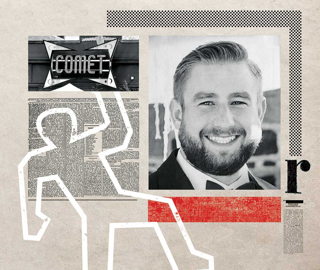 Photograph of Seth Rich by Matt Miller; Comet Ping Pong by Farragutful.