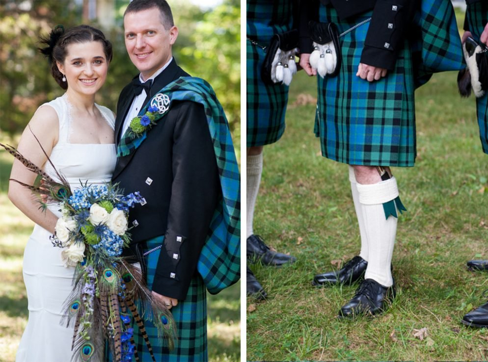 You Have to See the Bold Tartan Kilts at This Reverend Couple's Scottish-Inspired Wedding