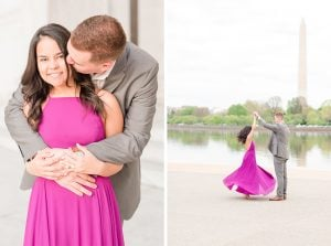 The Bright Fuchsia Gown this Bride Wore for her Memorial Photoshoot Proves Neon Dresses are a Total DO